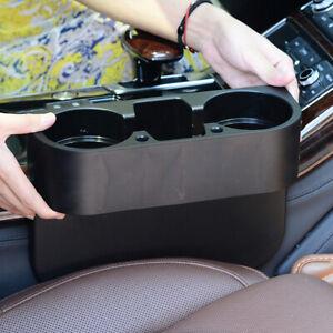 Universal Car Seat Seam Wedge Cup Holder Drink Stand Storage Organizer Black