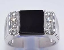 Men White Gold Diamond Ring 0.44CT Retail Amazing Savings!! $3,800!!!
