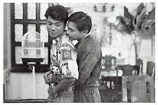 "1984 Vintage Photo gay interest hunk men hugging in ""Midnight Dancers"" movie"