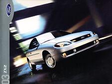 2003 Ford ZX2 Escort Original Car Dealer Sales Brochure