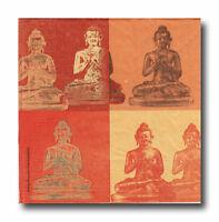 4 Servietten Napkins Tovaglioli Serviettentechnik Decoupage Buddha (104)