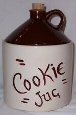 Vintage Ceramic Pottery COOKIE JUG Jar Looks Like Moonshine Jug Cork Stopper