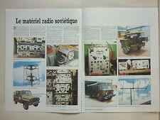 1984 ARTICLE MATERIEL RADIO SOVIETIQUE URSS CAMION GAZ-66 WAZ-469 TELETYPE
