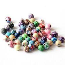 50Pcs Polymer Clay Flower Beads Finding--6mm