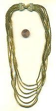 Stunning NOLAN MILLER 18k Gold Finish RS 7 Strand Chain Necklace Vintage N136