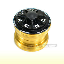 "KCNC Radiant KR3 1-1/8"" Sealed Bearing External Threadless Headset, Black"