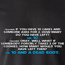 if you have 10 cakes and someone asks for 2. how many do you retro Funny T-Shirt