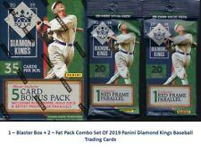 2019 Panini Diamond Kings Baseball Trading Cards 1-Blaster + 2-FatPack Combo Set