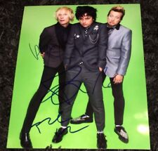 Green Day signed 8x10 Billie Joe Armstrong Tre Cool Mike Dirnt American Idiot