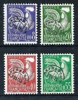 FRANCE 1960 'GALLIC COCK' SET - SG 1470-1473 - YT 146-157 PRECANCELS -CAT £60.00