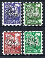 FRANCE 1960 'GALLIC COCK' SET - SG 1470-1473 - YT 146-157 PRECANCELS -CAT £60.00