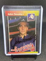 💎MINT 1989 Donruss John Smoltz Atlanta Braves #642 Signed Rookie Card AUTO 🔥