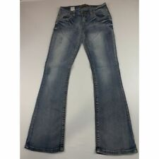 WALLFLOWER FROSTED STRETCHY BOOT CUT JEANS SZ 5