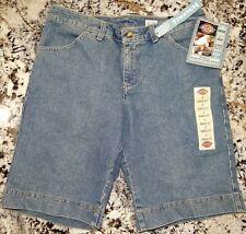 "Womens Dickies Stretch Denim Blue Jean Shorts Sz 8 Classic Fit 11"" Inseam"