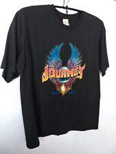 Journey 2014 Tour Mens Size XL Rock Band Concert T Shirt Graphic Front Tee Black
