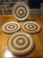 """4 ~ 1970's Crest-Stone """"Pueblo"""" Dinner Plates"""