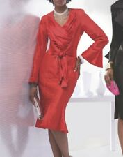 plus sz 22W Red carsanda Skirt Suit by Ashro new