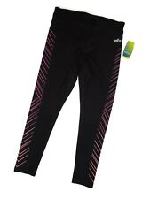 Spalding women's Leggings Yoga Pants Black Pink Coral High Waisted Size Large L