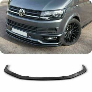 VW TRANSPORTER T6 FRONT LOWER ABS BLACK SPLITTER SPORTLINE BUMPER LIP SPOILER