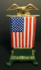 Patriolic - American Flag & Eagle Business Card Holder - Painted Iron