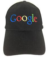 Google Hat Employee Cap Big Logo Baseball Embroidered Adjustable Trucker Black