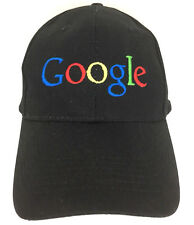Google Hat Employee Cap Big Logo Baseball Embroidered Adjustable Trucker Black
