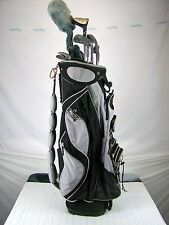 BAG BOY COMPANY GOLF BAG WITH 12 CLUBS AND BALLS LINEAR FORCE DUNLOP WILSON
