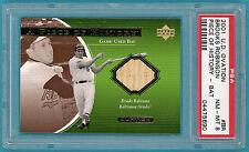 2001 Topps U.D. Ovation Brooks Robinson Game Used Bat- #BR PSA 8! Orioles! POP 2
