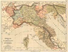 HOHENSTAUFEN ITALY. Northern Italy. 12th century. Swabia. CORTAMBERT 1880 map