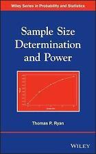 Sample Size Determination and Power, Ryan, Thomas P., Very Good Book