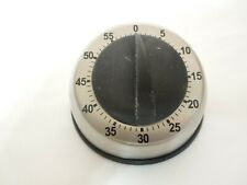 Countertop Stainless Steel 60 Minute Kitchen Cooking Timer with Bell Alarm