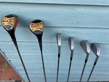 George Nicoll Concorde Golf Clubs Irons 4,6,8,10 & Woods 3,5 - Steel Shafts