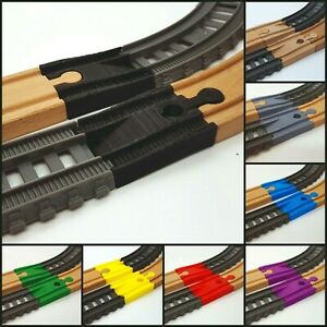 Thomas Trackmaster 2014> to Wooden Track Adapters x2 - Various Colours Available