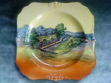 """Royal Doulton square Plate cottage scene 7.5"""" approximately"""
