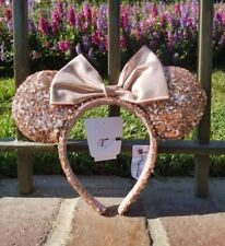 BNWT Authentic Disneyland DLR Disney Rose Gold Minnie Mouse Ears Headband