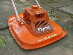 """RARE VINTAGE MID CENTURY FLYMO 17"""" WHEEL-LESS FLOATING ELECTRIC LAWN MOWER"""