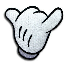 Hang Loose Patch Iron on Kids Mickey Hand Cartoon Motif Disney Toy Shaka sign