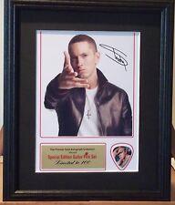 Eminem Preprinted Autograph & Guitar Pick Display Mounted & Framed