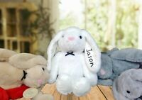 Personalised Cheerful Long Eared Bunny Plush Toy Boy Girl