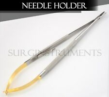 T/C Castroviejo Needle Holder Surgical Dental Curved 7""