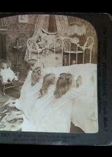 """1904 H.C. White Co. Stereoview """"Our Father Which Art in Heaven"""" Praying"""