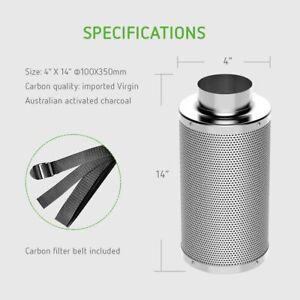 "VIVOSUN 4""/6""/8"" Air Carbon Charcoal Filter for Odor Control Exhaust Inline Fan"