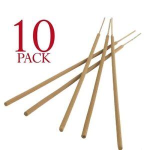 10 x Large Citronella Garden Sticks Candles  -  3 hours burn time 9cm