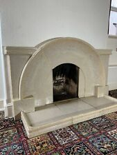 More details for art deco cast stone fireplace & hearth
