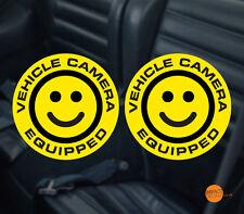 Sonrisa Dashcam Decal/Etiqueta Engomada de la etiqueta engomada. vehículo cámara equipada par 95mm de diámetro