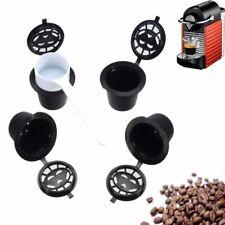 4PZ RIUTILIZZABILE CAFFÈ RICARICABILE CAPSULE FILTRO PER NESPRESSO MACHINE