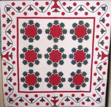 FINEST ANTIQUE APPLIQUE QUILT MASTERPIECE C1860 many quilts on sale in r store