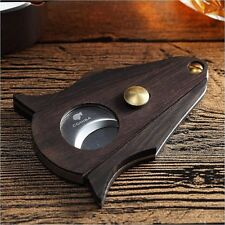 COHIBA Ebony Stainless Steel Double Blades Scissors Cigar Cutter New