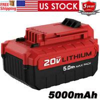 PCC685L For PORTER CABLE 20V MAX Lithium 5.0Ah Battery Pack PCC685LP PCC680L NEW