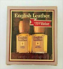 Vintage English Leather by MEM Set 2 oz each Cologne & After Shave NIB